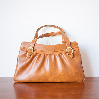 1970s 'Buckled' rich brown handbag, an Exclusive for Lancel